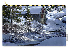 Winter Cottage Carry-all Pouch by Donna Blackhall