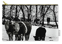 Winter Cows Carry-all Pouch