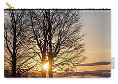 Carry-all Pouch featuring the photograph Winter, Crystal Spring Farm, Brunswick, Maine -78592 by John Bald