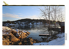 Winter Day By The Oslo Fjords, Norway.  Carry-all Pouch