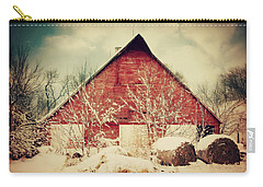 Winter Day On The Farm Carry-all Pouch