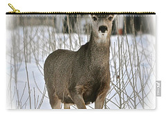 Winter Deer On The Tree Farm Carry-all Pouch