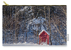Carry-all Pouch featuring the photograph Winter, Down East Maine  by Trace Kittrell