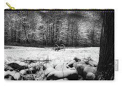 Carry-all Pouch featuring the photograph Winter Dreary Square by Bill Wakeley