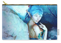 Winter Fairy In The Mist Carry-all Pouch