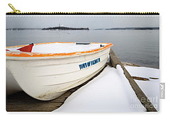 Carry-all Pouch featuring the photograph Winter, Falmouth, Maine  -18674 by John Bald