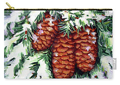 Winter Fir Cones Carry-all Pouch