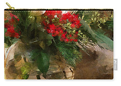 Winter Flowers In Glass Vase Carry-all Pouch