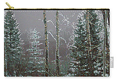 Carry-all Pouch featuring the digital art Winter Fog by Stuart Turnbull