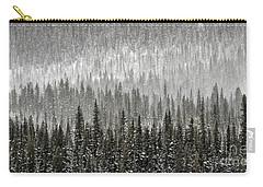 Winter Forest Carry-all Pouch by Brad Allen Fine Art