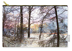 Winter Forest Carry-all Pouch by John Rivera