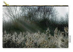 Carry-all Pouch featuring the photograph Winter Fringe by Kendall McKernon