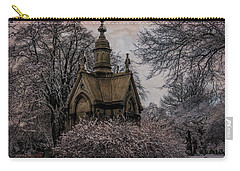 Carry-all Pouch featuring the digital art Winter Gothik by Chris Lord