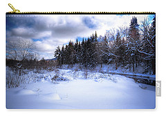 Carry-all Pouch featuring the photograph Winter Highlights by David Patterson
