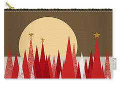 Carry-all Pouch featuring the digital art Winter Holiday Stars by Val Arie