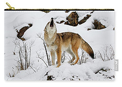 Winter Howl Carry-all Pouch by Steve McKinzie