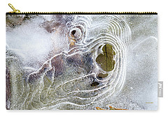 Carry-all Pouch featuring the photograph Winter Ice by Christina Rollo