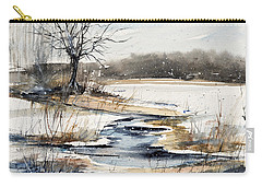 Winter In Caz Carry-all Pouch by Judith Levins