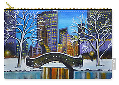 Winter In New York- Night Landscape Carry-all Pouch