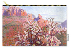 Carry-all Pouch featuring the painting Winter In Sedona, Arizona by Nancy Lee Moran