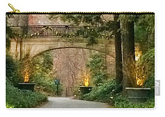 Winter In The Garden Carry-all Pouch by Robin Regan