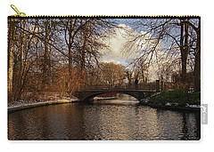 Carry-all Pouch featuring the photograph Winter In The Park- 365-277 by Inge Riis McDonald
