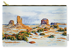 Winter In The Valley Carry-all Pouch