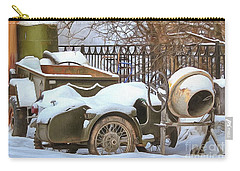 winter in the village Russian Carry-all Pouch