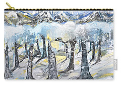 Winter In The Woods Carry-all Pouch by Evelina Popilian