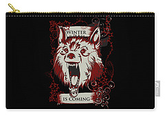 Carry-all Pouch featuring the digital art Winter Is Coming by Christopher Meade