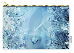 Winter Is Here - Jon Snow And Ghost - Game Of Thrones Carry-all Pouch