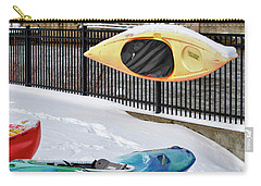 Winter Kayaking  Carry-all Pouch by Betty Pauwels
