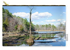 Carry-all Pouch featuring the photograph Winter Lake View by George Randy Bass
