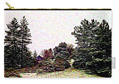 Winter Landscape 1 In Abstract Carry-all Pouch