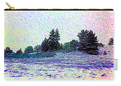 Winter Landscape 2 In Abstract Carry-all Pouch