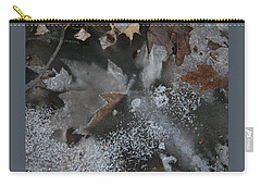Winter Leaf Abstract-ii Carry-all Pouch by Patricia Overmoyer