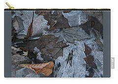 Winter Leaf Abstract-iv Carry-all Pouch