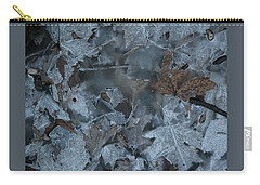 Winter Leaf Abstract-v Carry-all Pouch