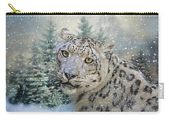 Winter Leopard Carry-all Pouch by Jai Johnson