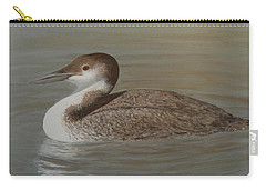 Winter Loon Carry-all Pouch