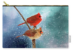 Carry-all Pouch featuring the photograph Winter Love by Darren Fisher