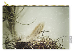 Carry-all Pouch featuring the photograph Winter Lullaby by Amy Weiss