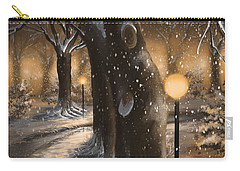 Carry-all Pouch featuring the painting Winter Magic by Veronica Minozzi