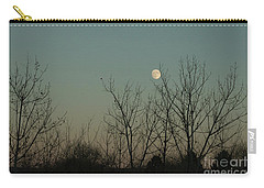 Carry-all Pouch featuring the photograph Winter Moon by Ana V Ramirez