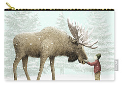 Winter Moose Carry-all Pouch by Eric Fan