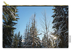 Winter Morning In The Forest Carry-all Pouch