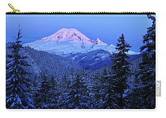 Winter Morning With Mount Rainier Carry-all Pouch