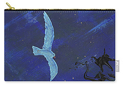 Carry-all Pouch featuring the painting Winter Night by Manuel Sueess