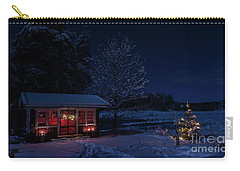 Carry-all Pouch featuring the photograph Winter Night by Torbjorn Swenelius