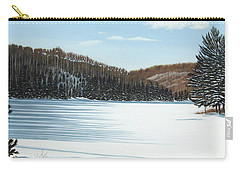 Winter On An Ontario Lake  Carry-all Pouch